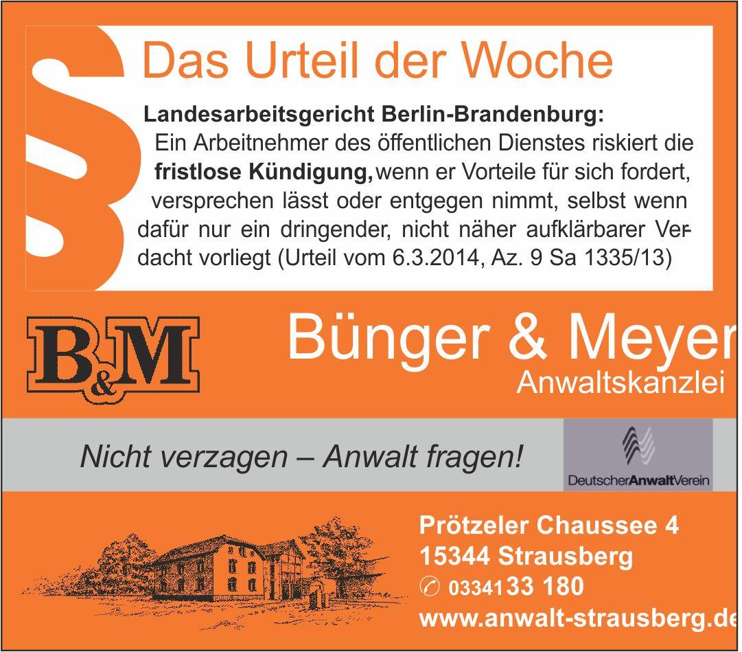 Bünger Meyer Rechtsanwälte